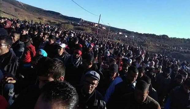 Mass protest in Morocco