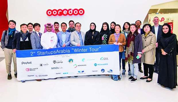 Ooredoo hosted a South Korean startup delegation