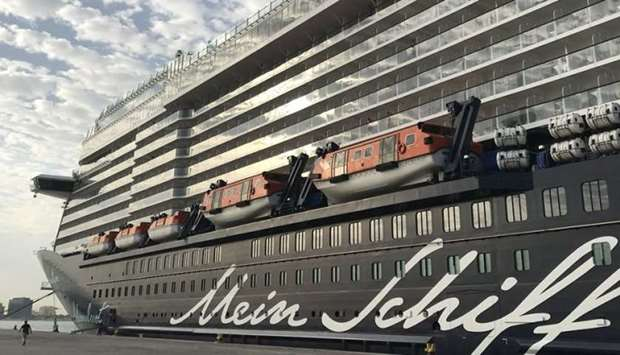 Mein Schiff 5, one of the many cruise ships scheduled to make calls at Doha Port in the 2017-18 crui