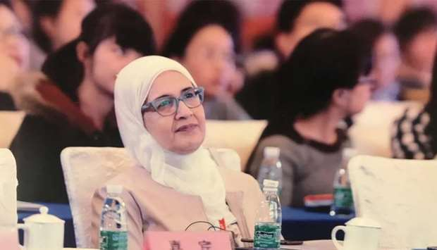 Dr Nahla Maher Afifi represented Qatar's biobanking community