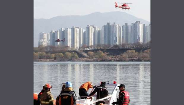 Han River copter crash