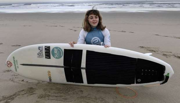 Carmen Lopez Garcia, Spain's first blind female surfer who is to participate in the ISA World Adapti