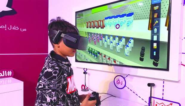 Virtual reality headsets that take children on a journey to educate them on the rights of consumers