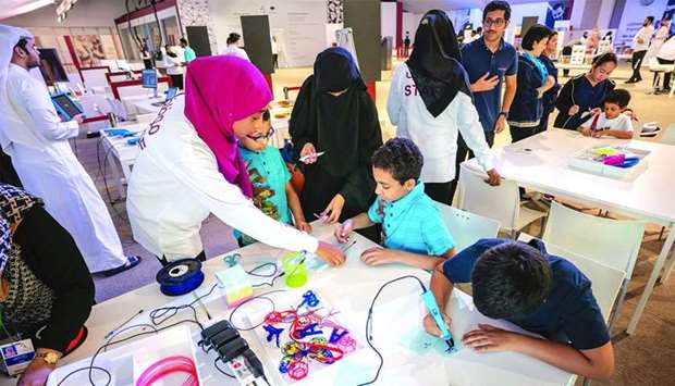 One of the activities at QF tent
