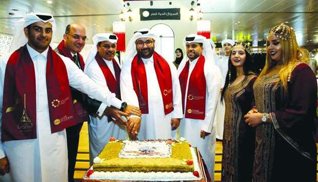 QDF's operations vice president Thabet Musleh led the cake-cutting ceremony to open the second souq