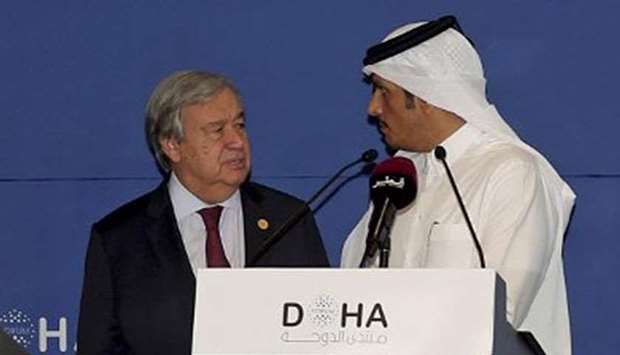 Qatar's Deputy Prime Minister and Foreign Minister HE Sheikh Mohamed bin Abdulrahman al-Thani and An