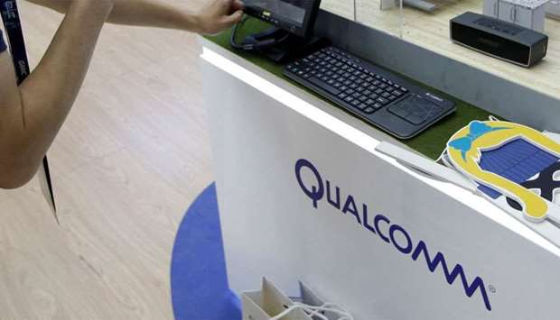 A Qualcomm booth
