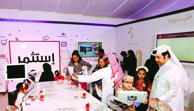 The Ministry of Commerce and Industry's pavilion in Darb Al Saai witnessed a great turnout of visito