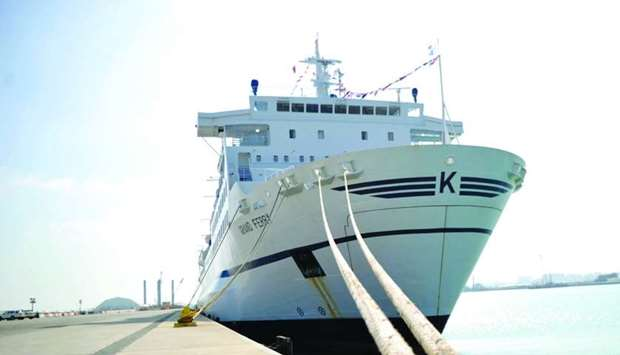 Luxury cruise ship MV Grand Ferry, docked at Doha Port, is set to make maiden voyage to Oman and Kuw