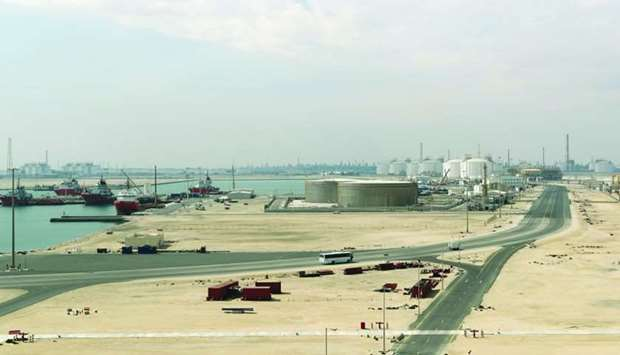 file photo taken on February 6, 2017 shows the Ras Laffan Industrial City