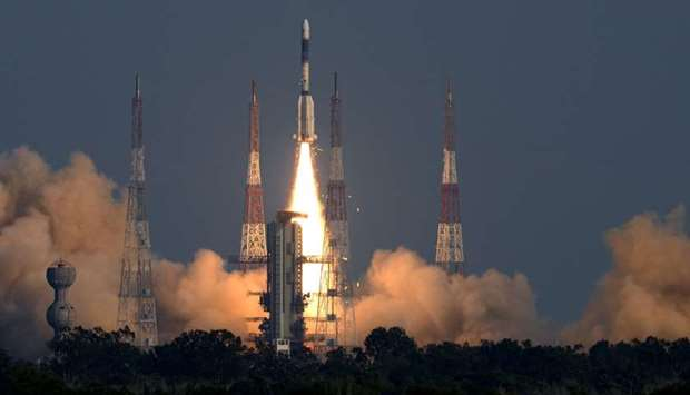 A satellite is being launched from ISRO's Sriharikota centre