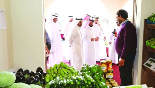 Dr Khalid bin Ibrahim al-Sulaiti led the opening of the annual Mahaseel Festival.