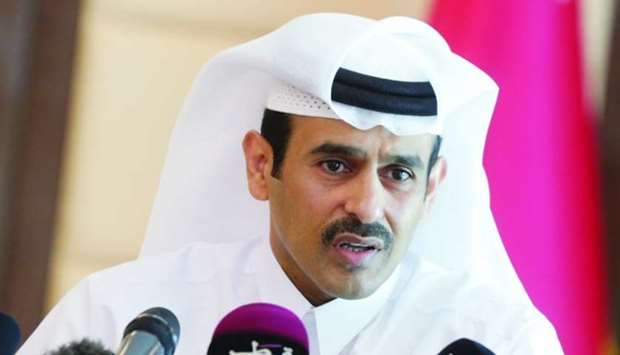 HE the Minister of State for Energy Affairs Saad Sherida al-Kaabi addressing a press conference