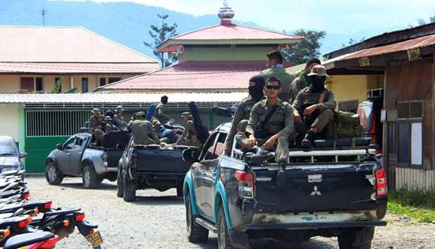 Indonesian Mobile Brigade Police head to Nduga