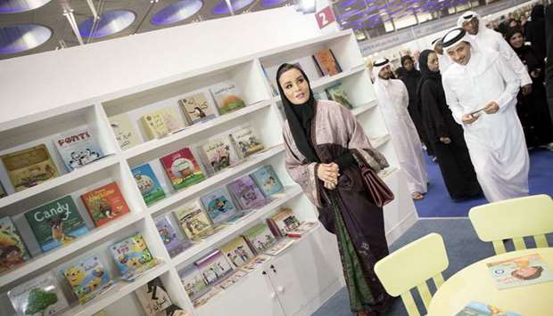 Her Highness Sheikha Moza bint Nasser visited the 29th edition of Doha International Book Fair today