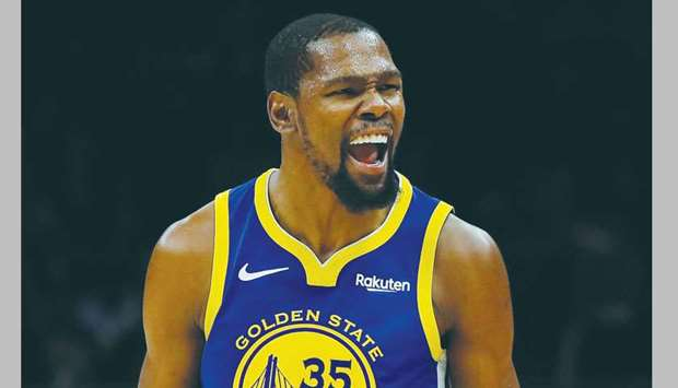 Golden State Warriors' Kevin Durant.
