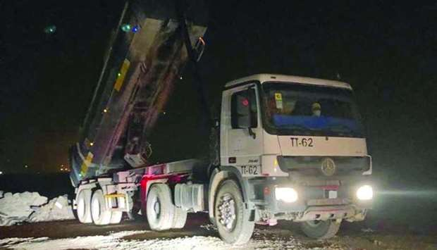 A truck found dumping solid waste in an undesignated area was seized by the ministry.