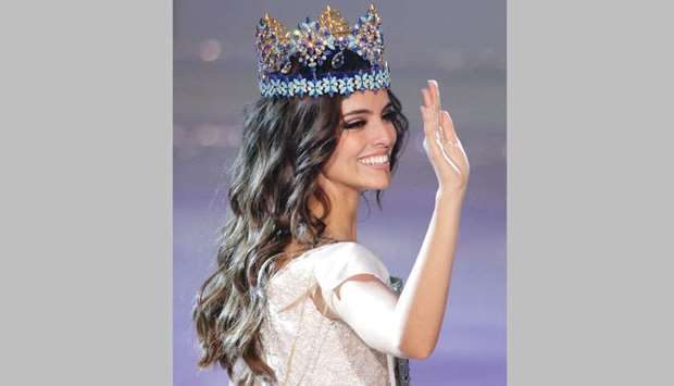 Miss Mexico Vanessa Ponce de Leon, 26, celebrates after winning the Miss World 2018 title in Sanya,