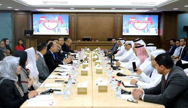 Qatar Chamber, Indonesian delegation