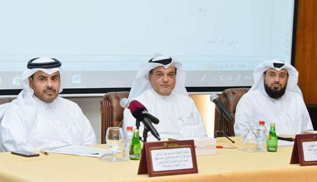 Qatar Chamber board member Mohamed bin Ahmed al-Obaidli presiding over the meeting held in the prese