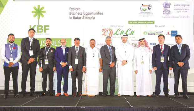 Officials and members of the Kerala Business Forum with dignitaries attending the 'KBF Business Conc