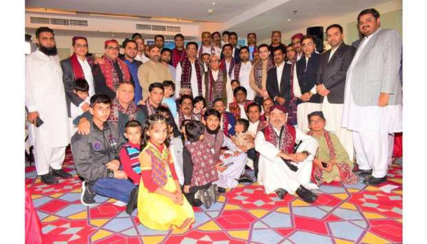 GROUP: Organisers and members of the Sindhi community pose for a group photo.