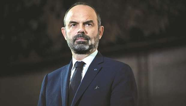 French Prime Minister Edouard Philippe unveils the details of a pensions reform plan before the CESE
