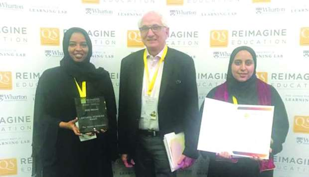 Qatar University wins gold, silver in Reimagine Education 2019