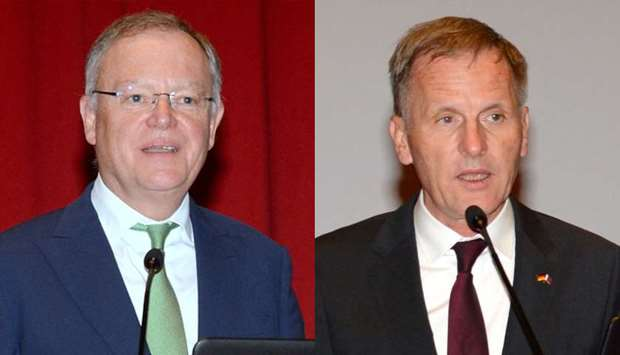 Prime Minister of the Federal State of Lower Saxony Stephan Weil and German ambassador Hans-Udo Muze