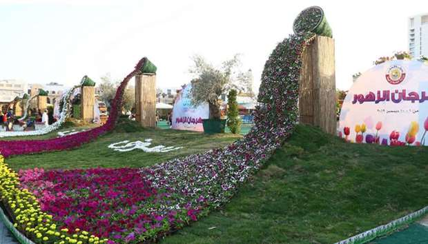 The Second Flowers Festival at Souq Waqif