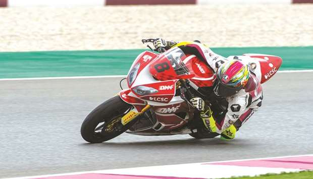 Qatar's Abdulla al-Qubaisi in action during  the qualifying session for the opening round of the Qa