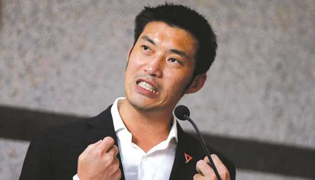 Opposition leader Thanathorn Juangroongruangkit