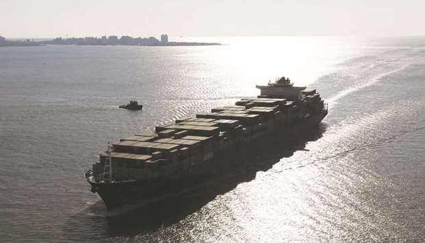 A container ship sails into New York Harbour in New York (file). The new IMO 2020 rules will curb us