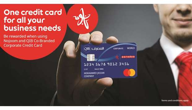 The new QIB and Nojoom corporate credit card is an innovative payment solution for corporates and SM