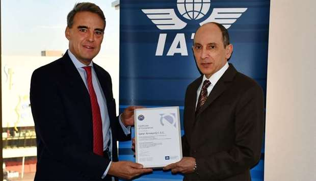 "Qatar Airways received ""recognition of its continued commitment"" to environmental management at Inte"
