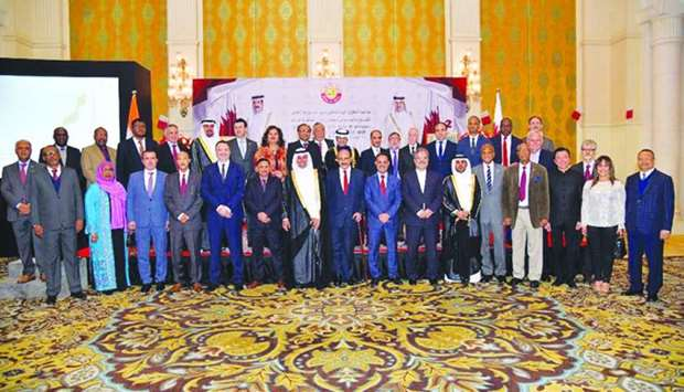 Ambassador of Qatar to India Mohamed bin Khater al-Khater held a reception on the occasion