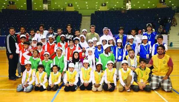 Some of the participants at Al Bawasil Camp