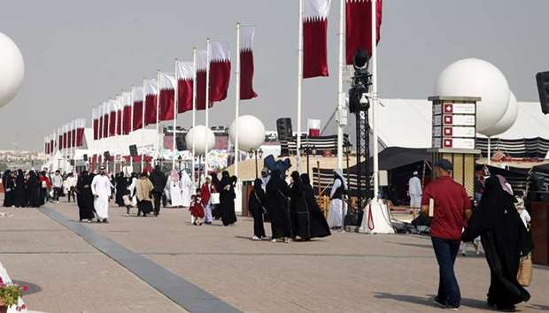 National Day festivities at Darb Al Saai the main venue of Qatar National Day celebration