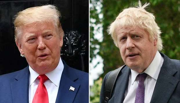 US President Donald Trump and British Prime Minister Boris Johnson