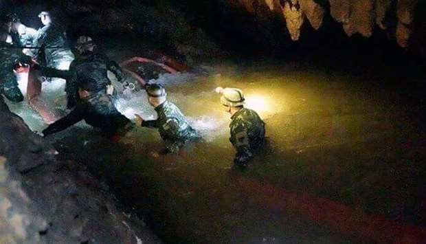 flooded Indonesian cave