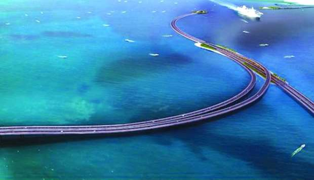 Artist's impressions of the Sharq Crossing.