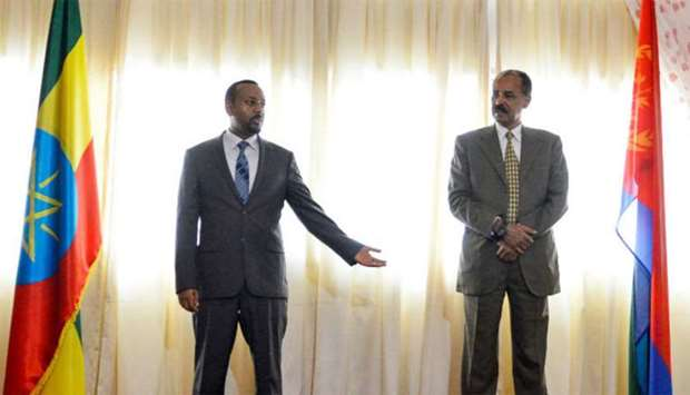 Ethiopian prime minister Abiy Ahmed and Eritrean President Isaias Afwerki
