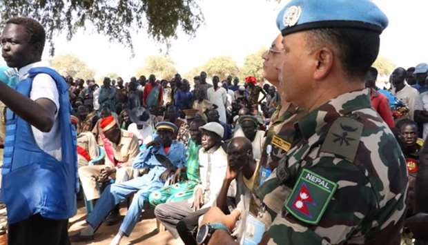 UNMISS peacekeepers in South Sudan