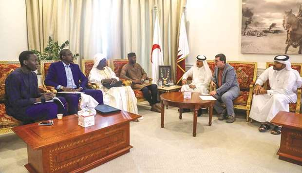 The delegation from Senegal with #QRCS officials.