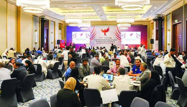 Professionals from government and private entities attending the seventh National Cybersecurity Dril