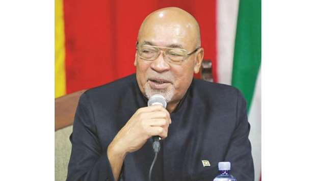 Suriname's President Desi Bouterse, who was convicted of murder for the execution of opponents by a