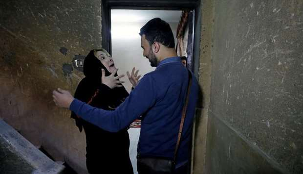 Palestinian journalist, Amjad Yaghi, and his mother, Nevine Zouheir, reunite after 20 years of separ