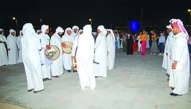 A traditional cultural performance at the venue.