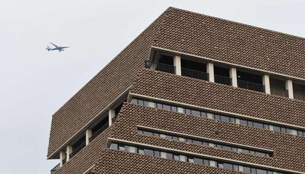 A general view shows the viewing platform of the Tate Modern gallery in London on August 4.