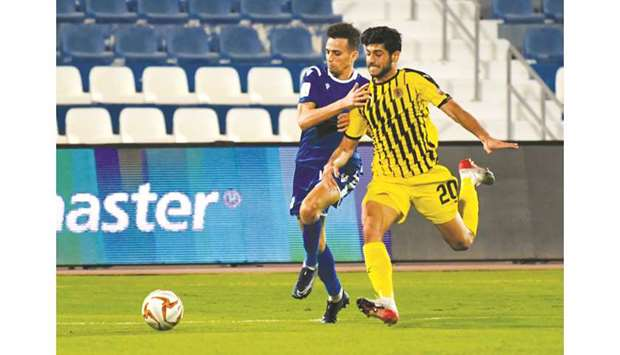 Action from the fifth round Ooredoo Cup match between Al Khor and Qatar SC at the Al Khor Stadium ye